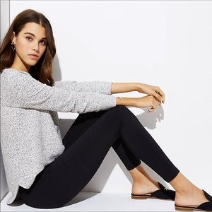 LOFT Ponte seamed in thick pull on ankle leggings